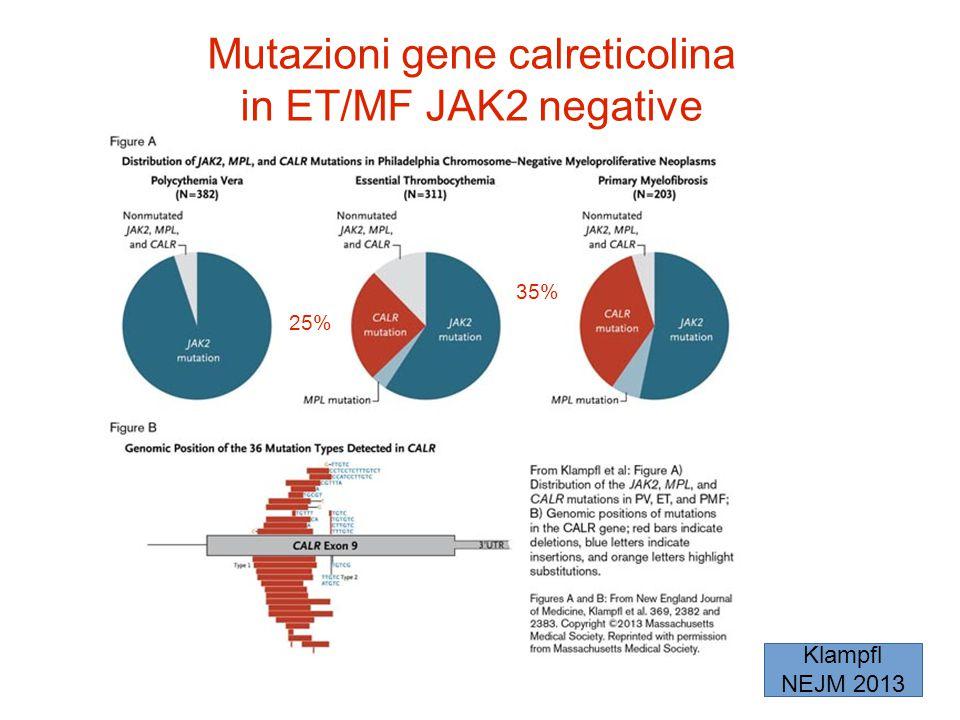 Mutazioni gene calreticolina