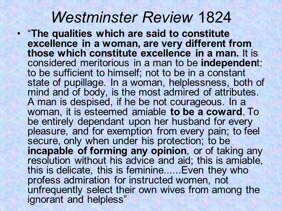 Westminster Review 1824