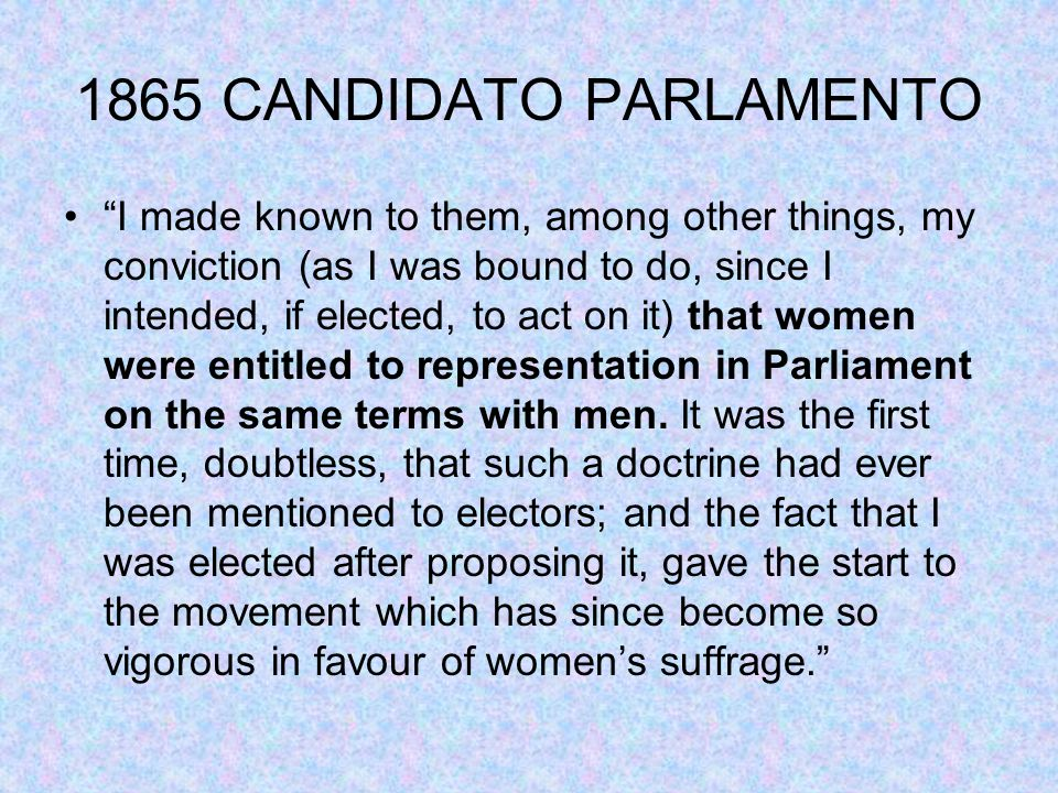 1865 CANDIDATO PARLAMENTO