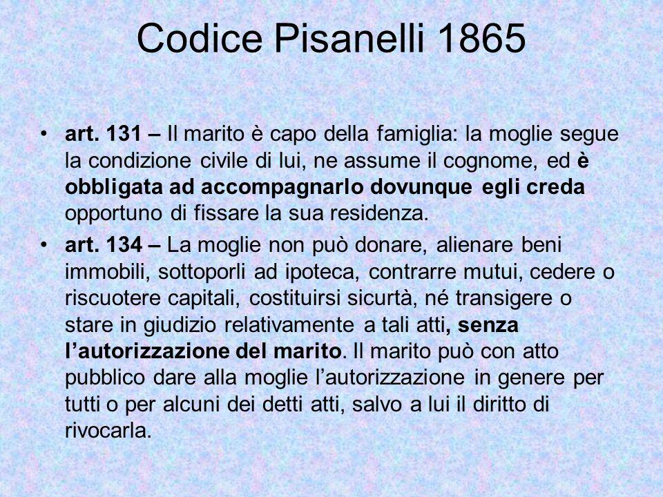 Codice Pisanelli 1865