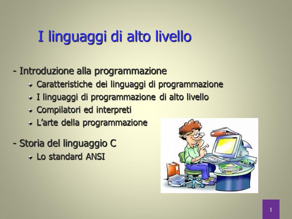 I linguaggi di alto livello