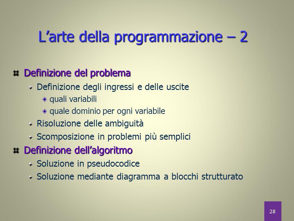 L'arte della programmazione – 2