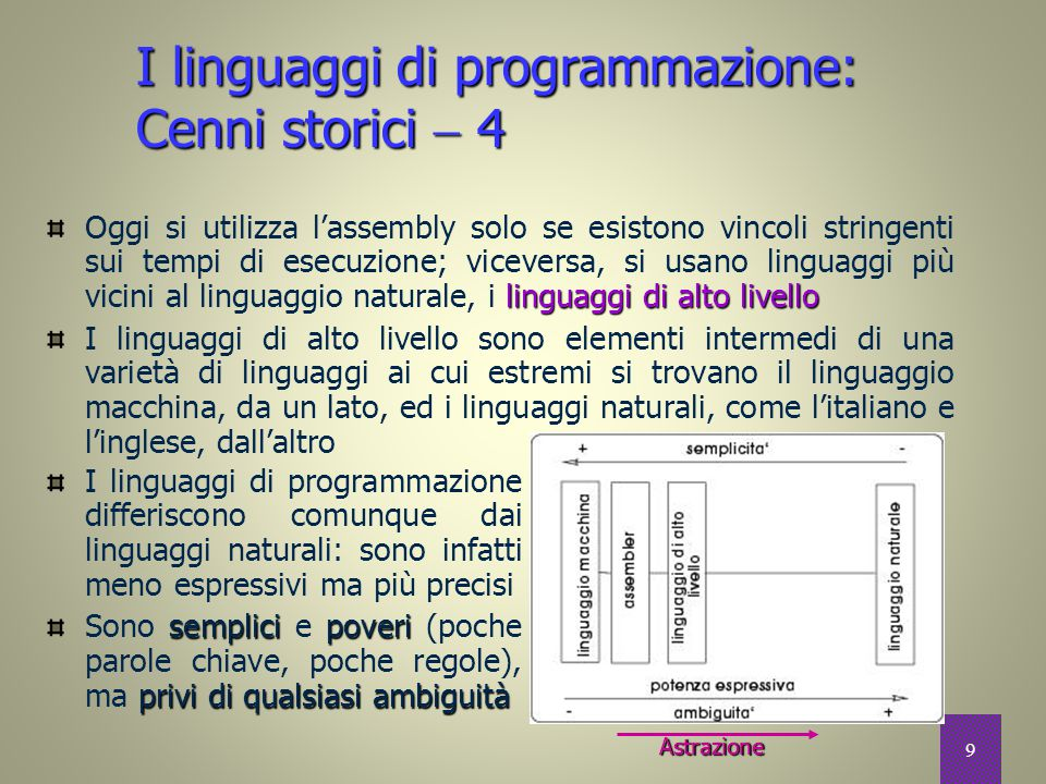 I linguaggi di programmazione: Cenni storici  4