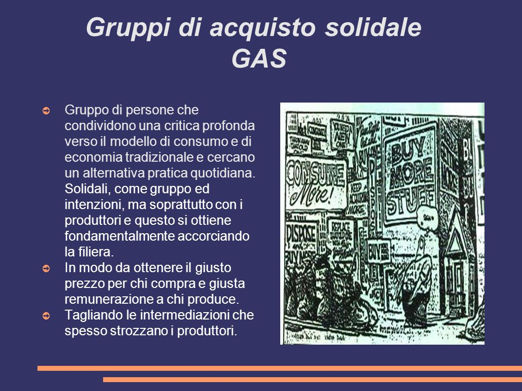 Gruppi di acquisto solidale GAS