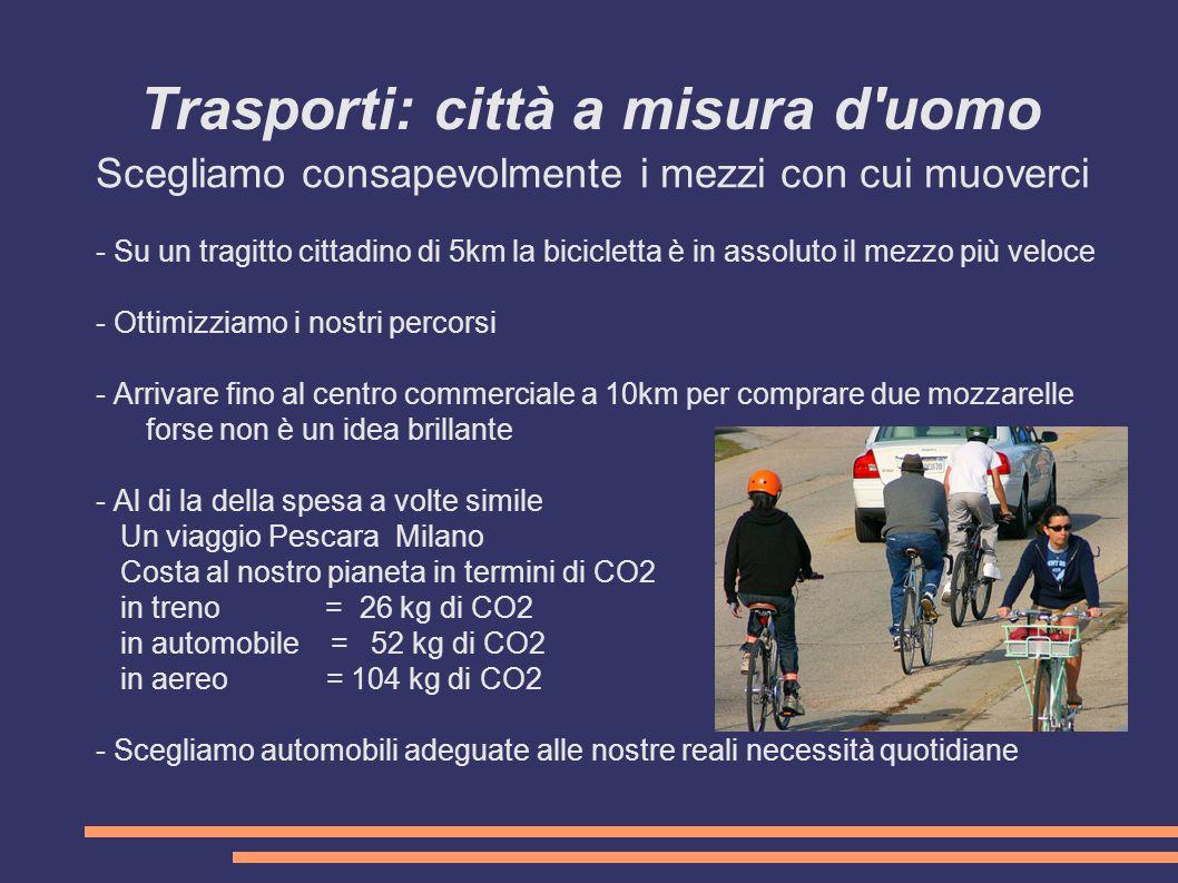 Trasporti: città a misura d uomo