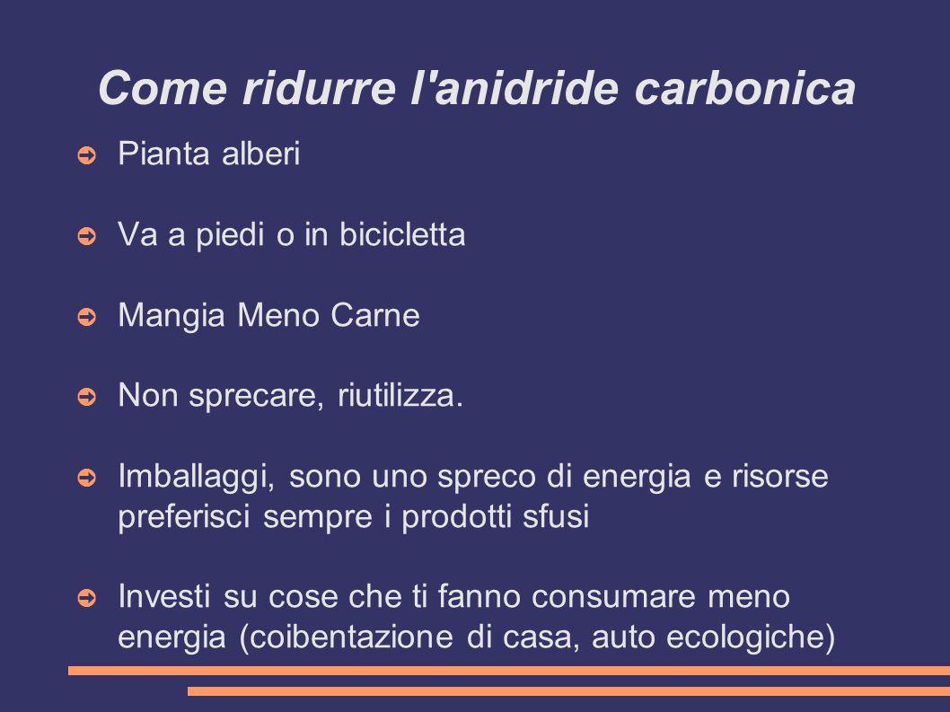 Come ridurre l anidride carbonica