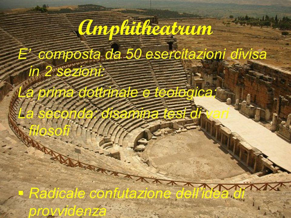 Amphitheatrum E' composta da 50 esercitazioni divisa in 2 sezioni: