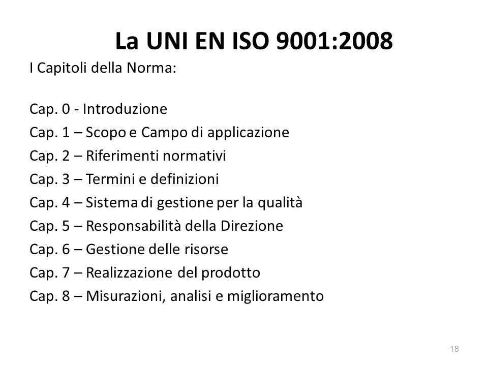 La UNI EN ISO 9001:2008