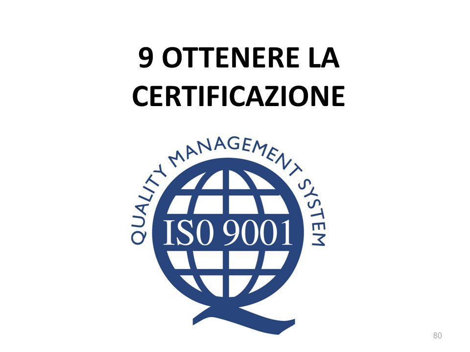 9 ottenere la certificazione