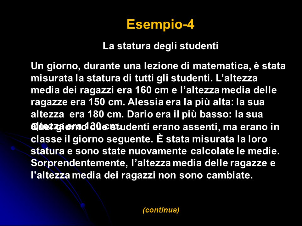 La statura degli studenti