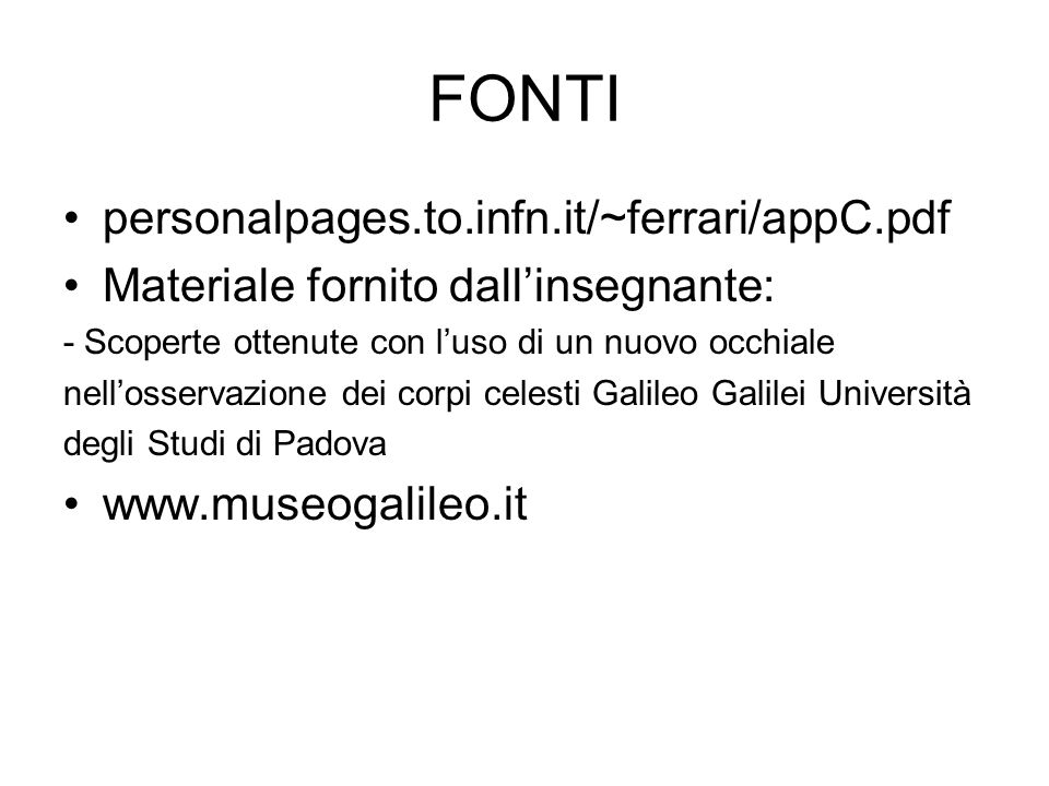 FONTI personalpages.to.infn.it/~ferrari/appC.pdf