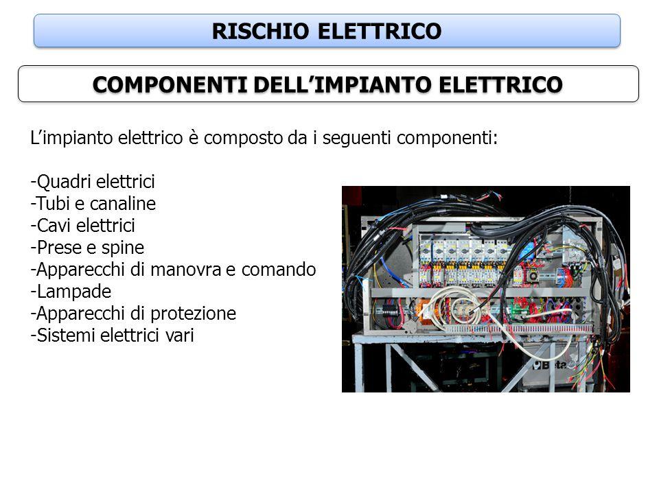 COMPONENTI DELL'IMPIANTO ELETTRICO