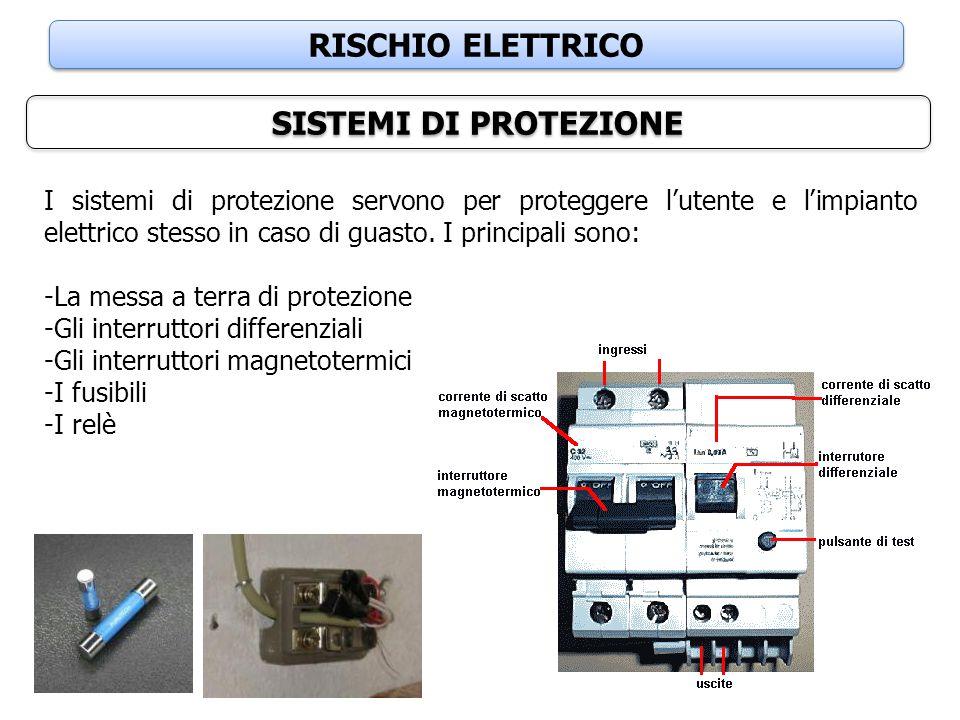 RISCHIO ELETTRICO SISTEMI DI PROTEZIONE