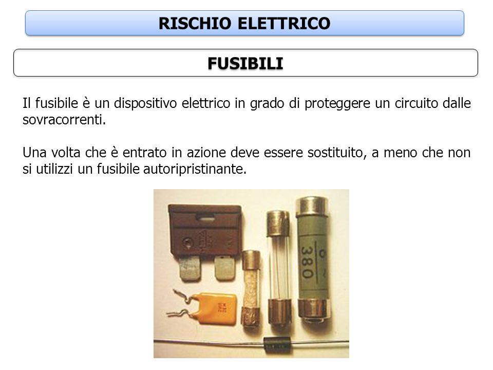 RISCHIO ELETTRICO FUSIBILI