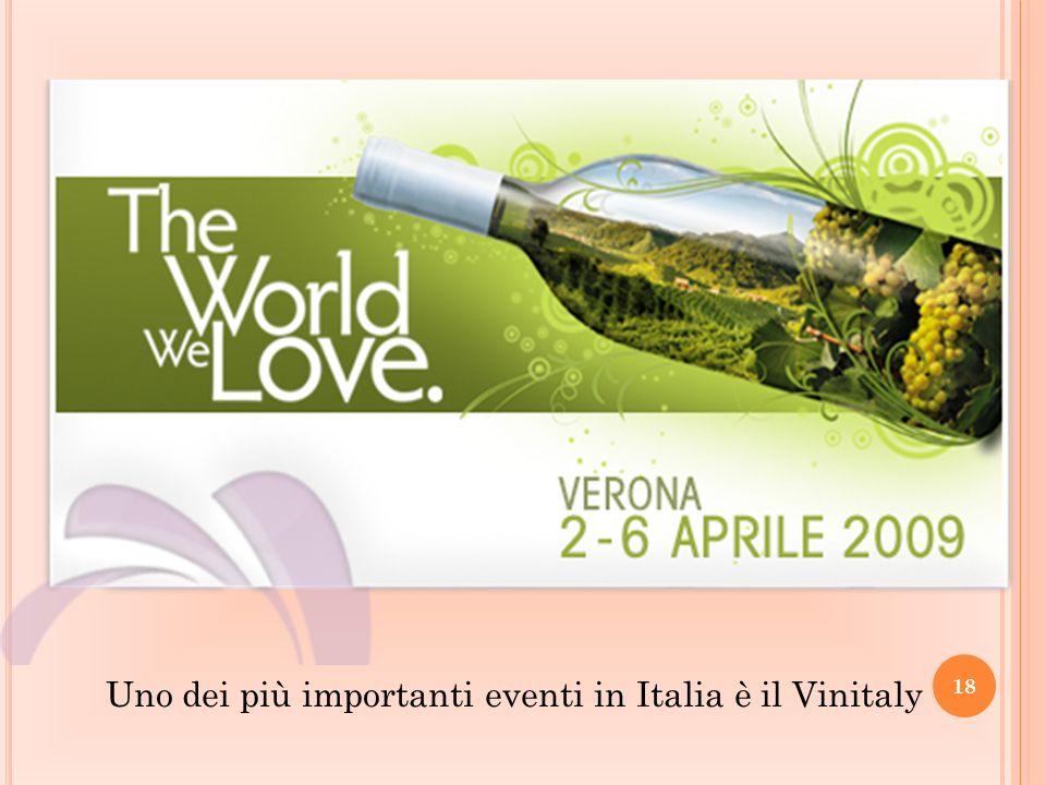 Uno dei più importanti eventi in Italia è il Vinitaly