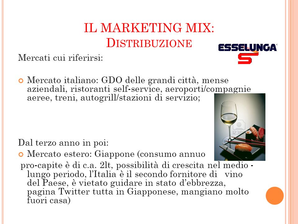 IL MARKETING MIX: Distribuzione