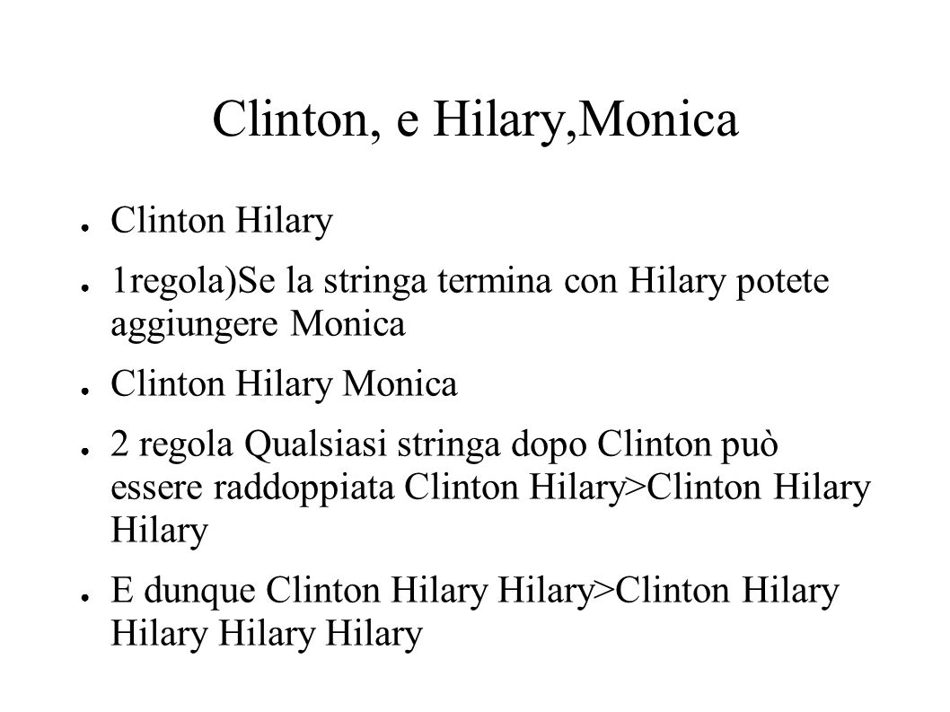 Clinton, e Hilary,Monica