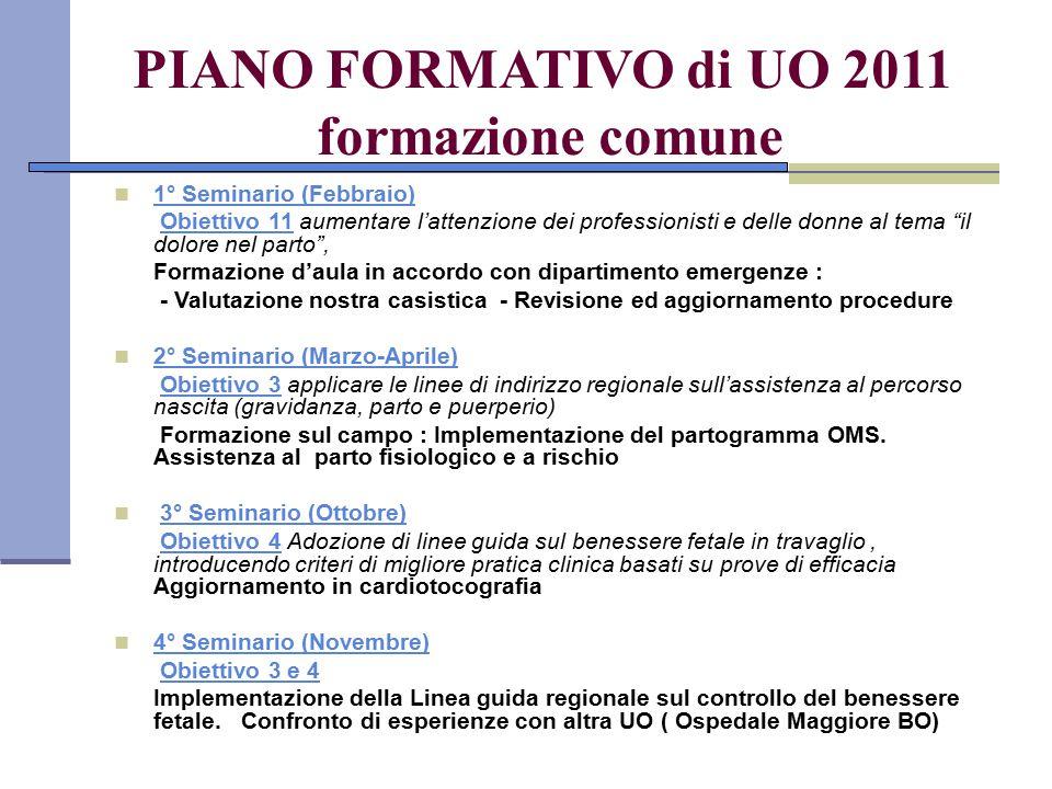 PIANO FORMATIVO di UO 2011 formazione comune