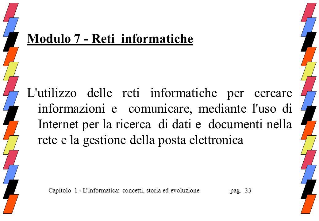 Modulo 7 - Reti informatiche