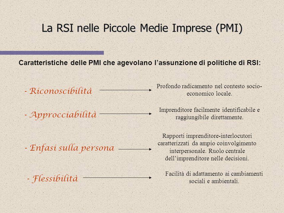 La RSI nelle Piccole Medie Imprese (PMI)