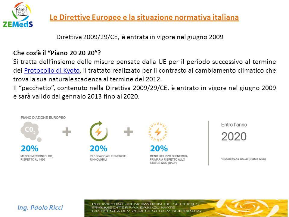 Le Direttive Europee e la situazione normativa italiana