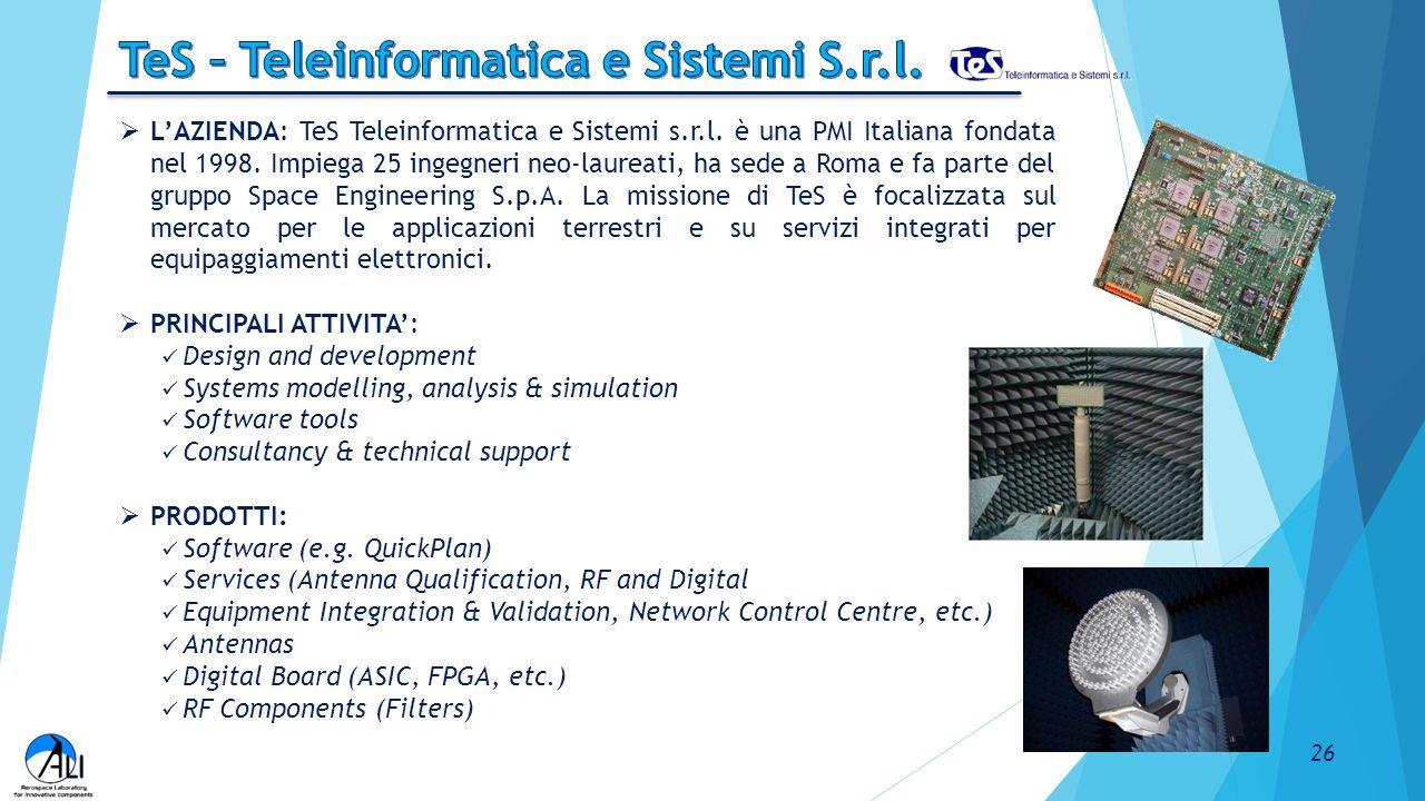 TeS – Teleinformatica e Sistemi S.r.l.