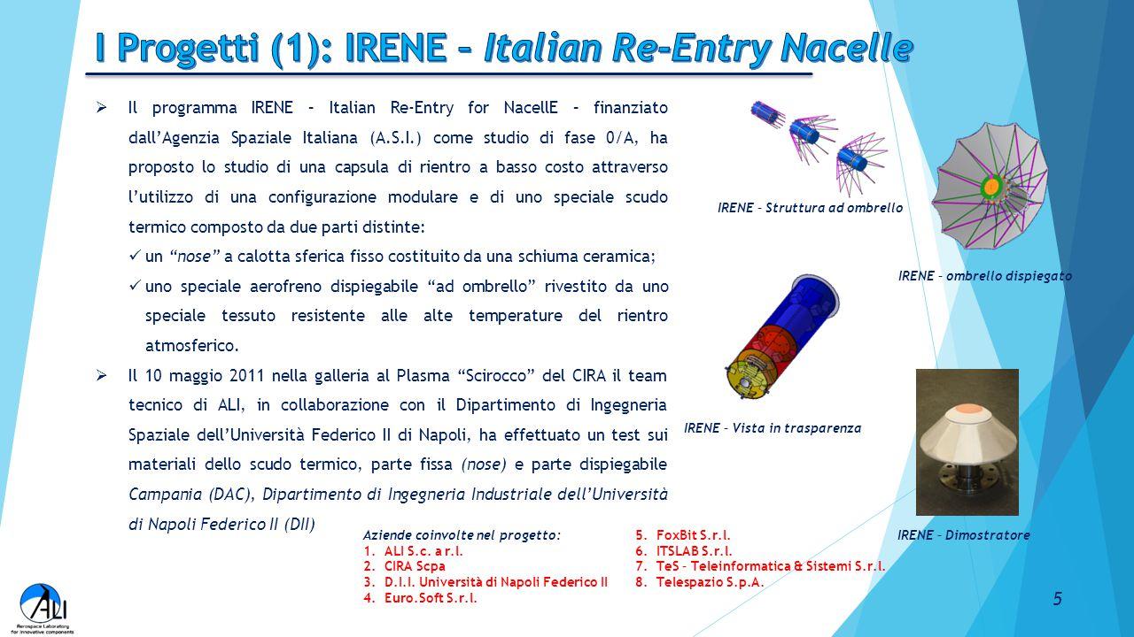 I Progetti (1): IRENE – Italian Re-Entry Nacelle