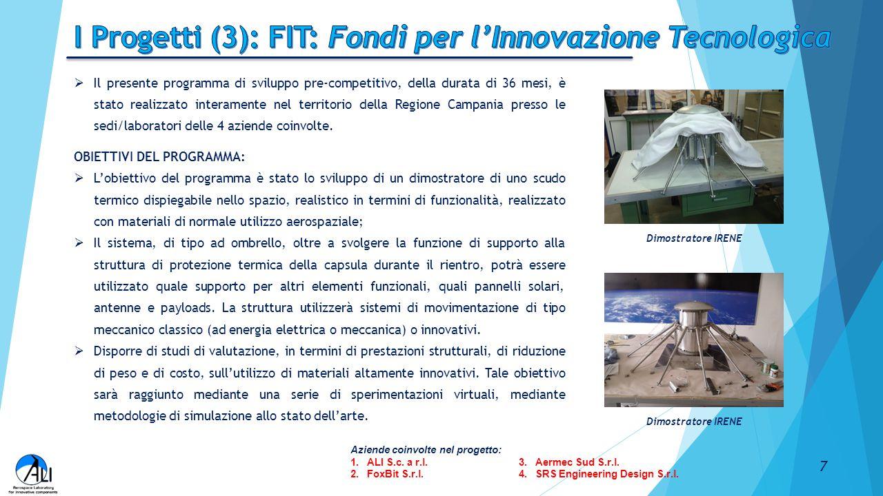 I Progetti (3): FIT: Fondi per l'Innovazione Tecnologica