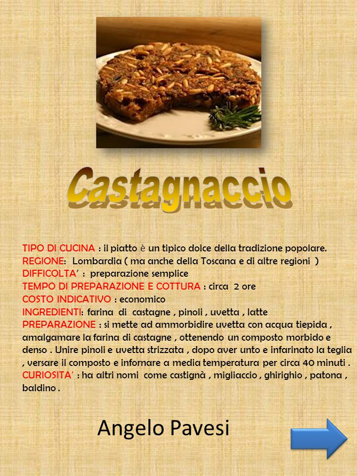 Castagnaccio Angelo Pavesi