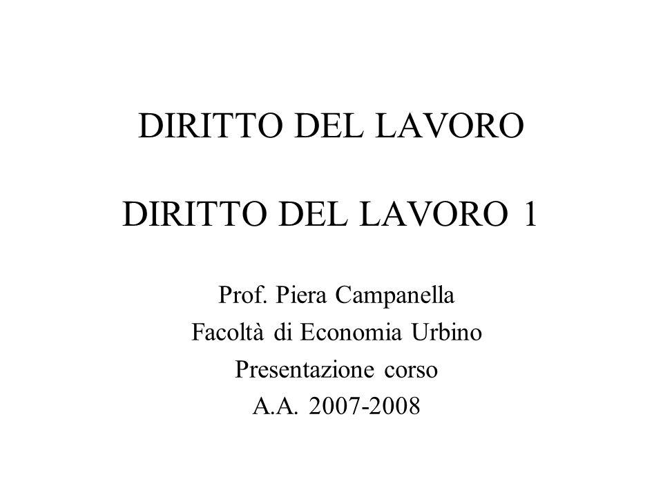 DIRITTO DEL LAVORO DIRITTO DEL LAVORO 1