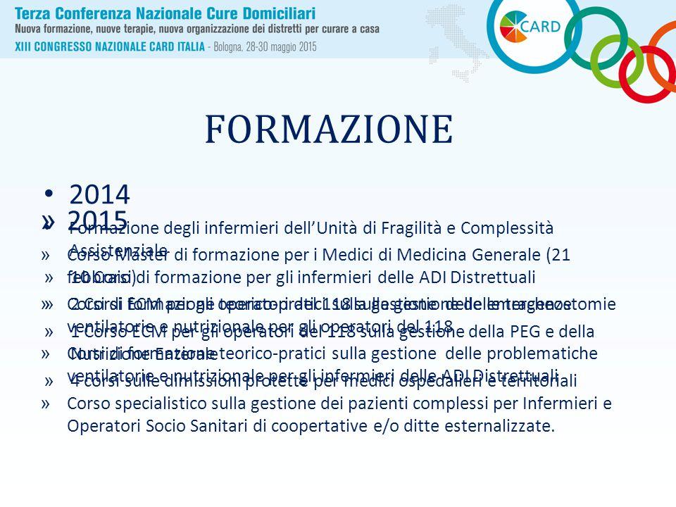 FORMAZIONE 2014. Formazione degli infermieri dell'Unità di Fragilità e Complessità Assistenziale.