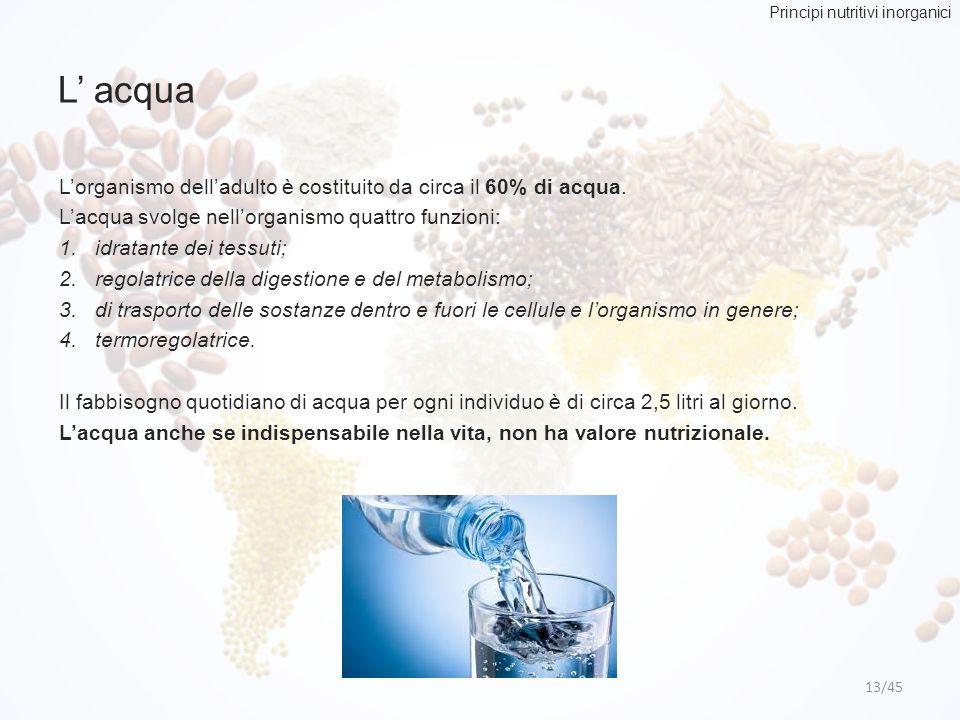 Principi nutritivi inorganici