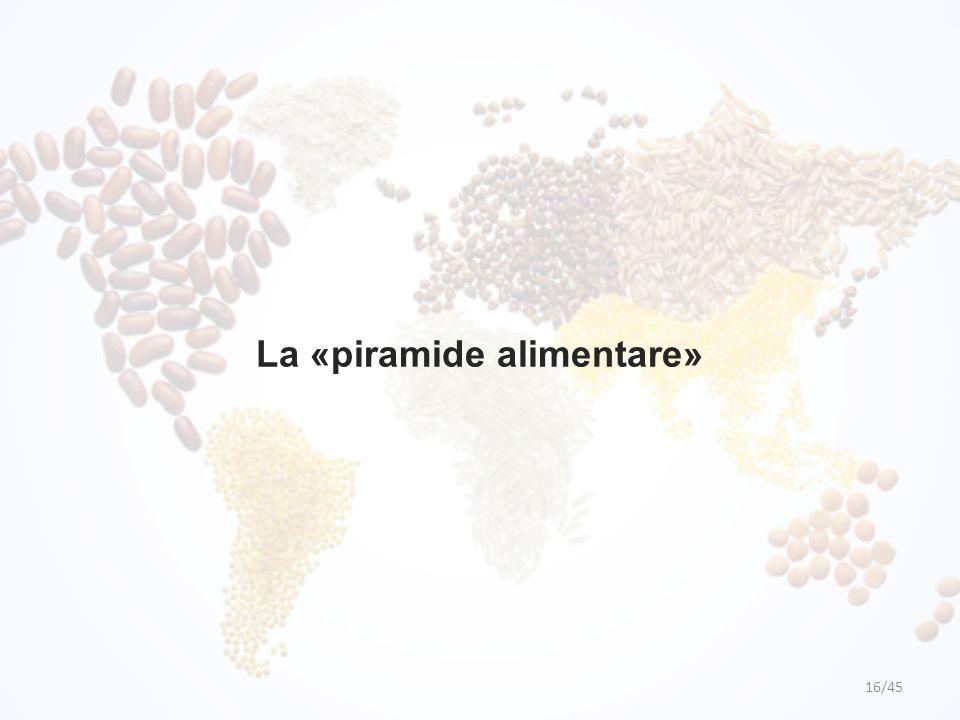 La «piramide alimentare»
