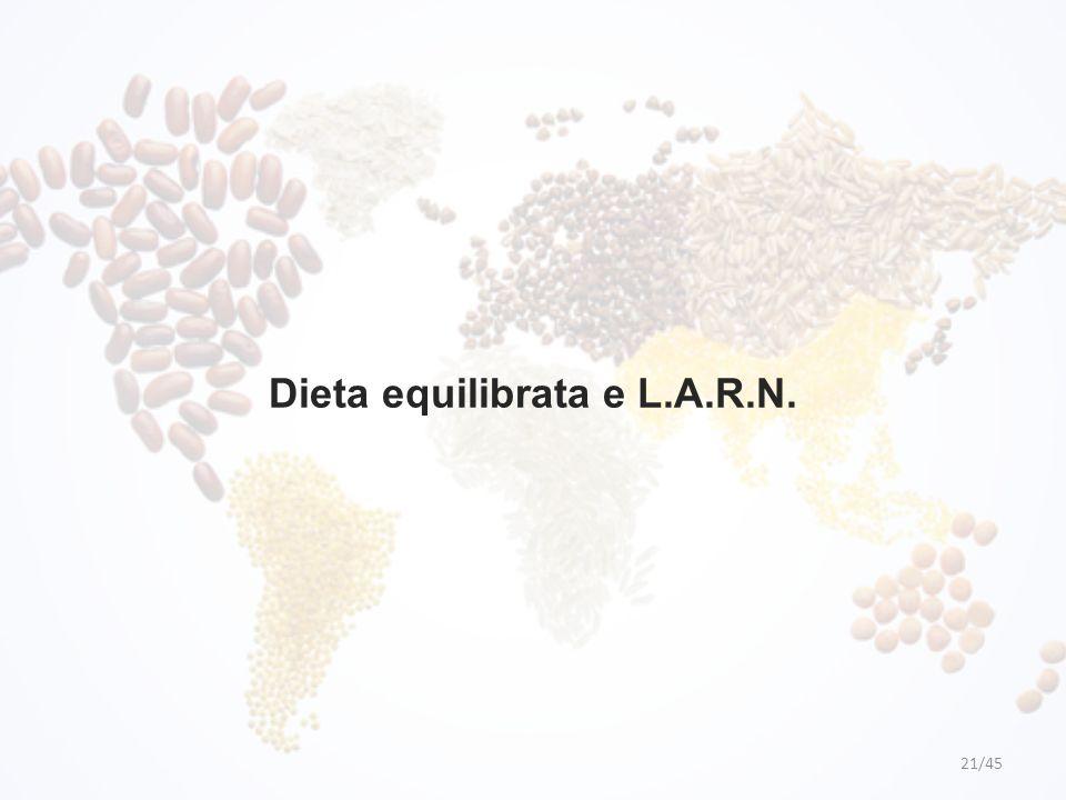 Dieta equilibrata e L.A.R.N.