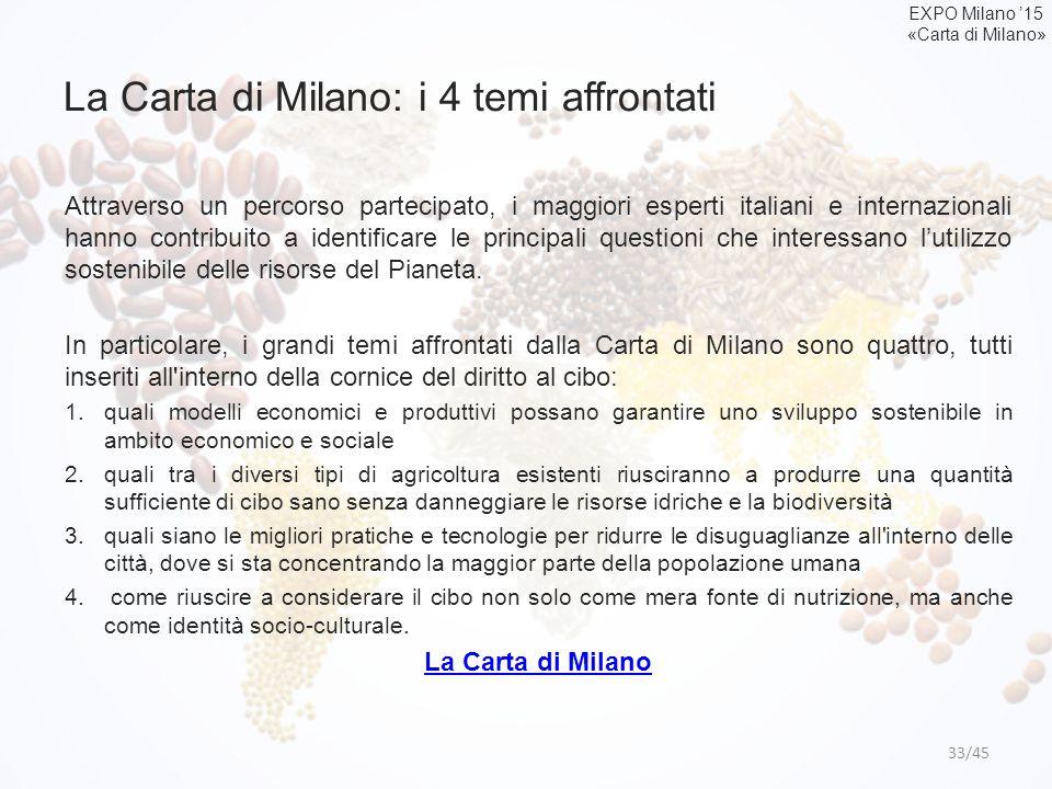 La Carta di Milano: i 4 temi affrontati