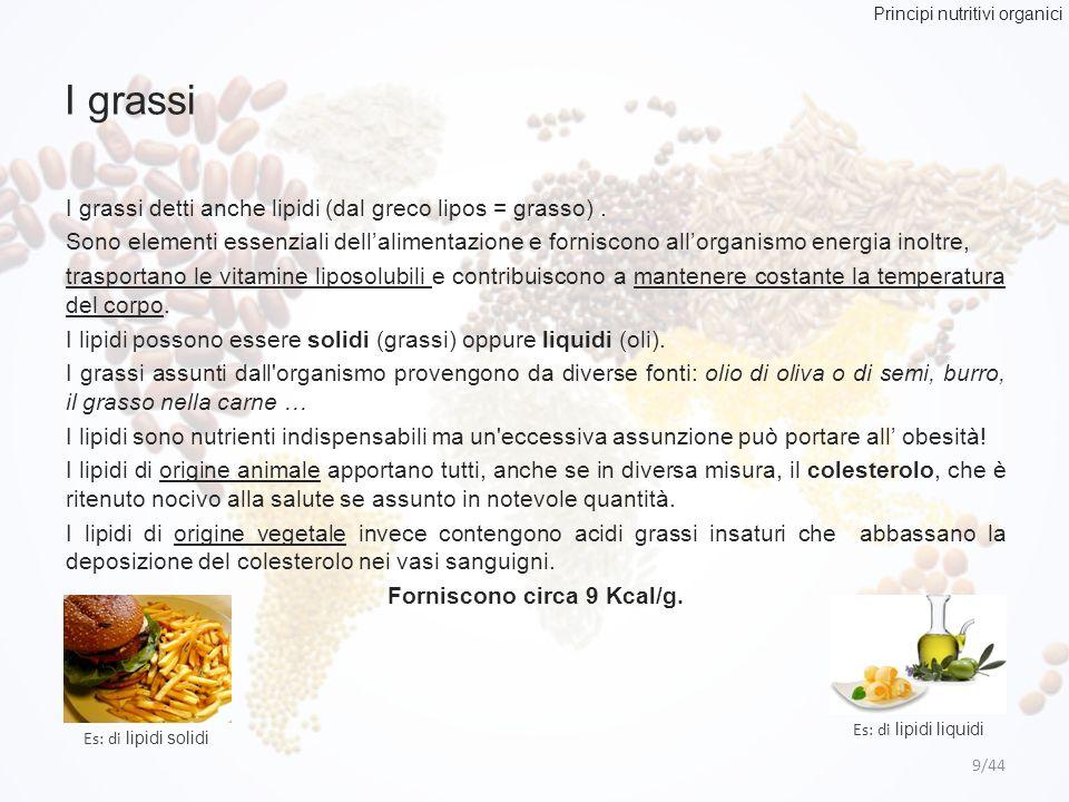 Principi nutritivi organici