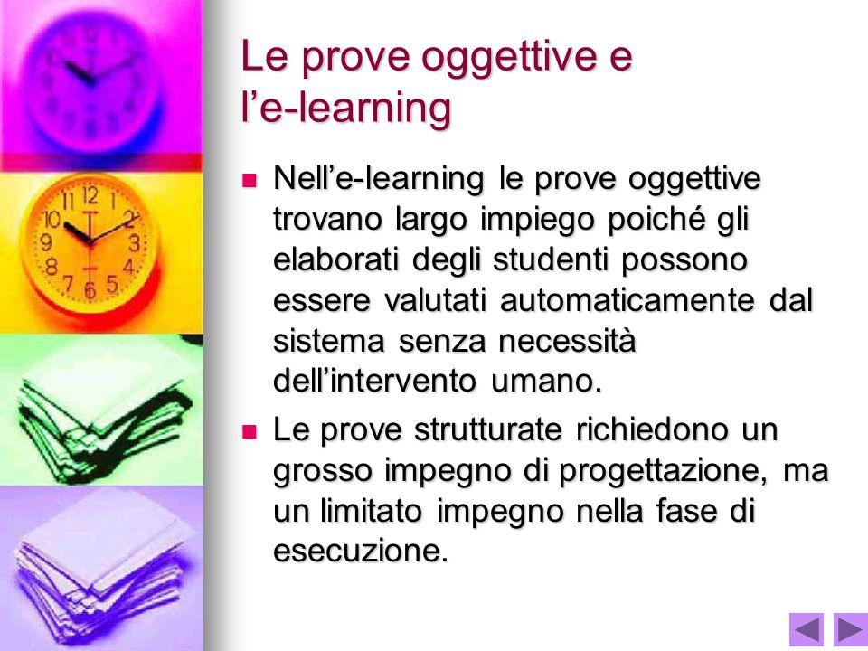 Le prove oggettive e l'e-learning