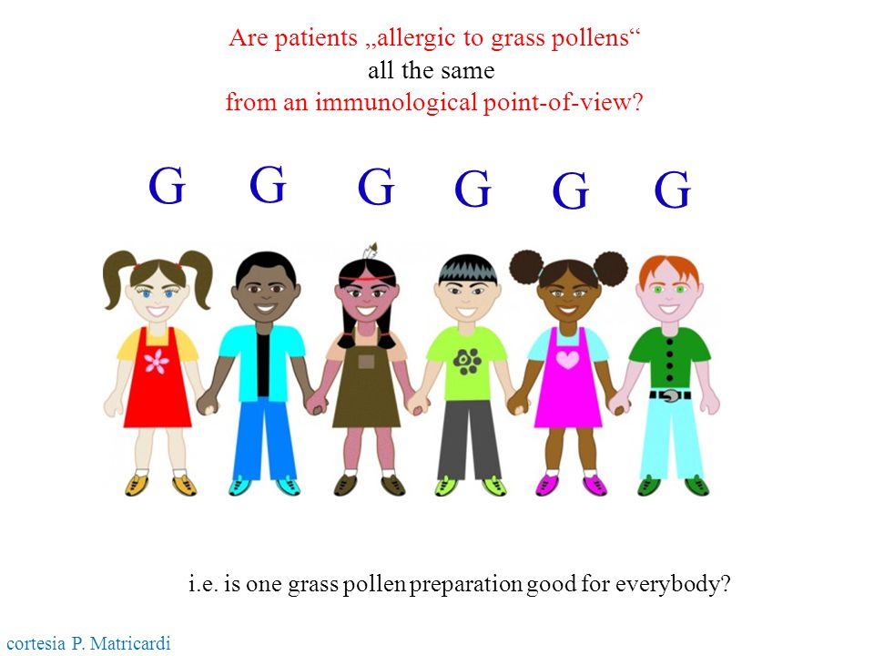 "G G G G G G Are patients ""allergic to grass pollens all the same"