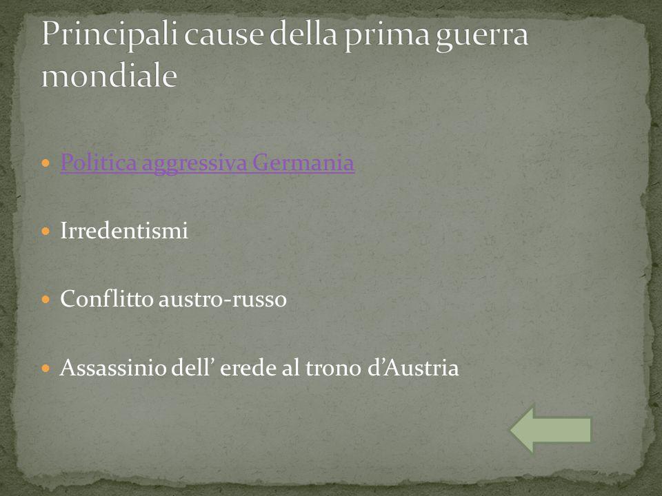 Principali cause della prima guerra mondiale