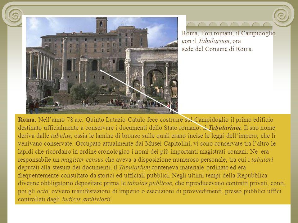 Roma, Fori romani, il Campidoglio con il Tabularium, ora