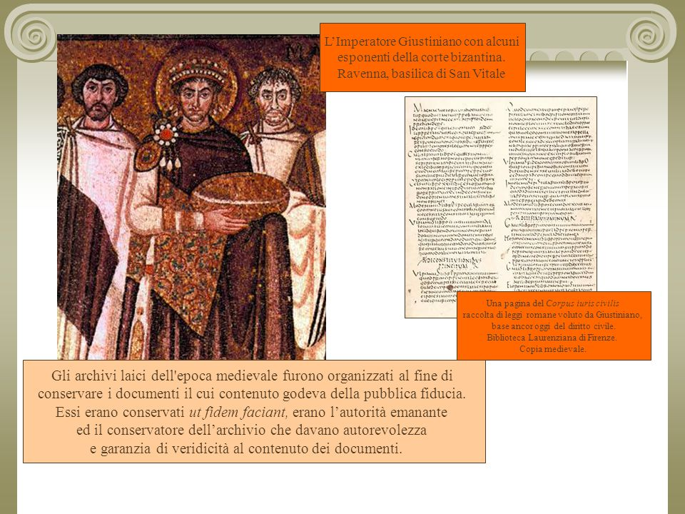 Gli archivi laici dell epoca medievale furono organizzati al fine di