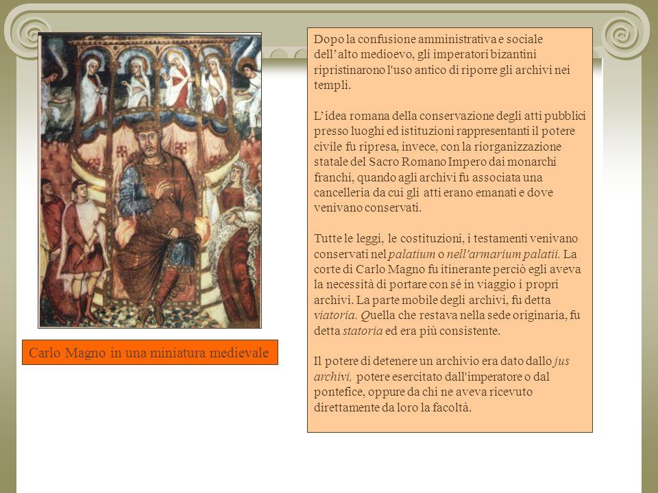 Carlo Magno in una miniatura medievale