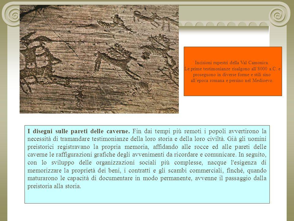 Incisioni rupestri della Val Camonica.