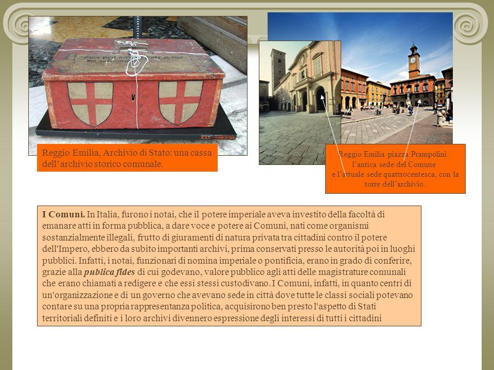 Reggio Emilia, Archivio di Stato: una cassa