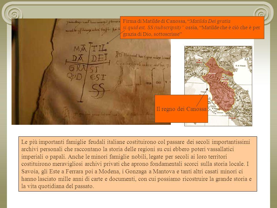 Firma di Matilde di Canossa, Matilda Dei gratia