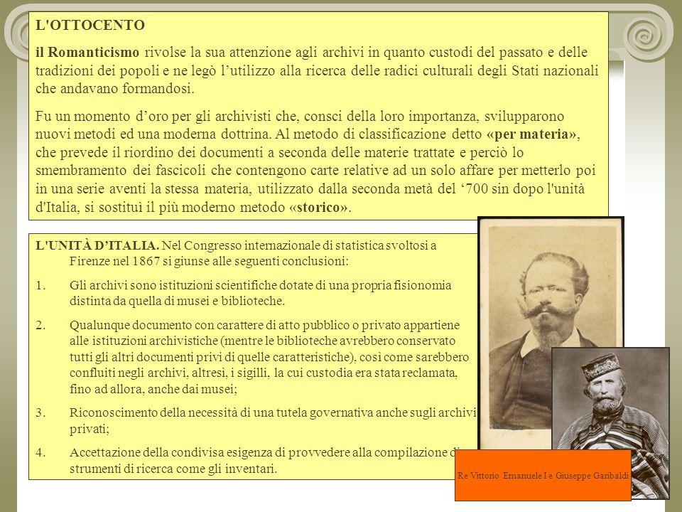 Re Vittorio Emanuele I e Giuseppe Garibaldi