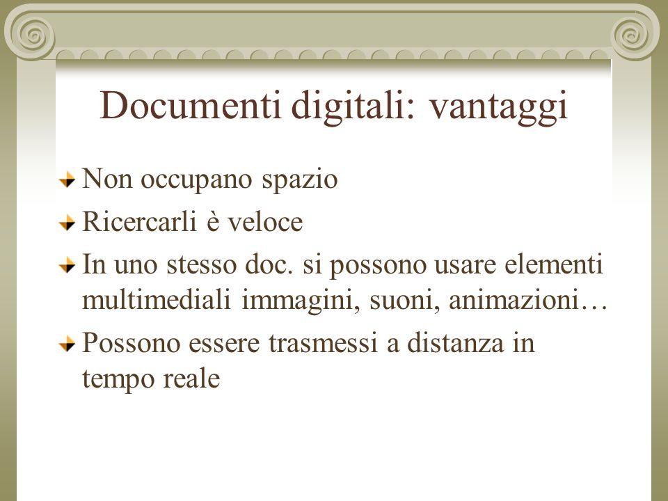 Documenti digitali: vantaggi