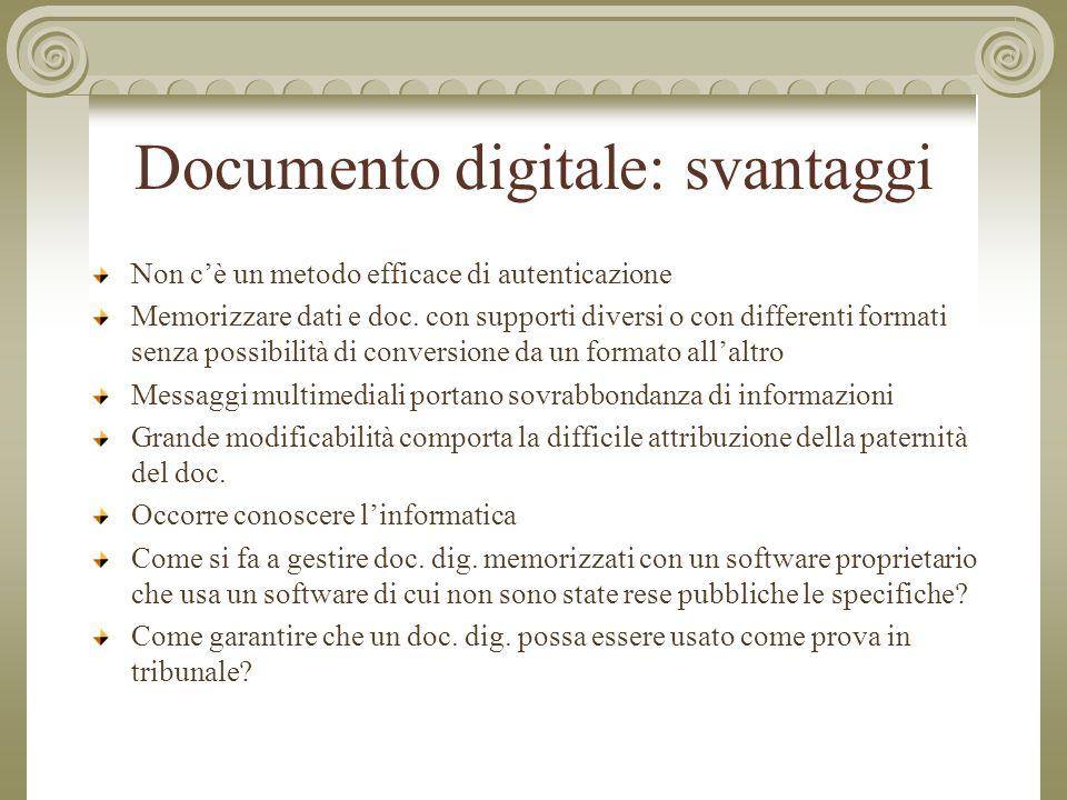 Documento digitale: svantaggi