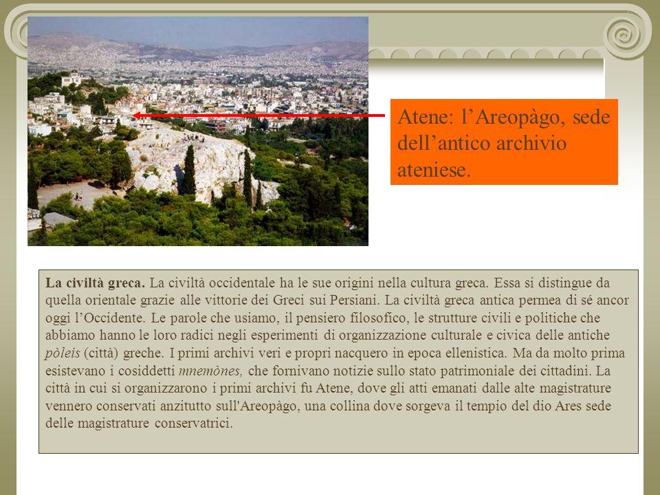 Atene: l'Areopàgo, sede dell'antico archivio ateniese.