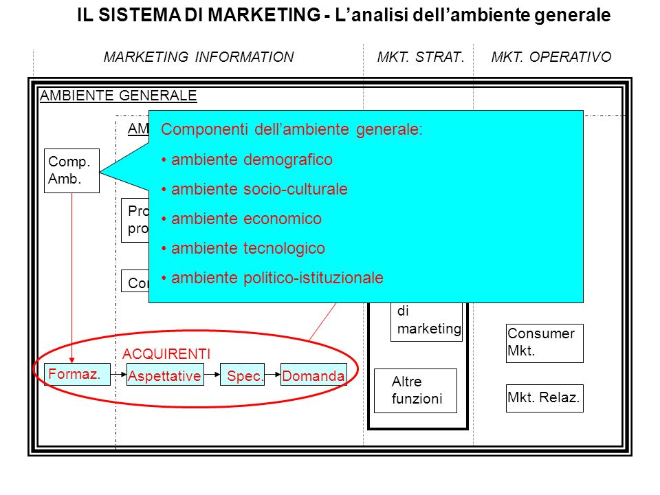 IL SISTEMA DI MARKETING - L'analisi dell'ambiente generale